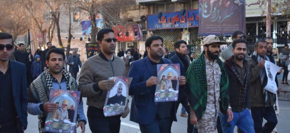 حضور پرسنل منطقه ویژه اقتصادی پارسیان در مراسم خاکسپاری شهید سردار سپهبد قاسمسلیمانی