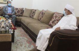 دیدار مدیرعامل منطقه ویژه اقتصادی پارسیان با امام جمعه اهل سنت شهر پارسیان