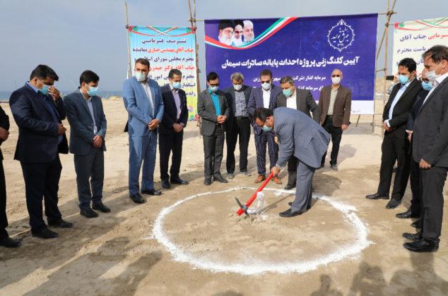 مراسم کلنگ زنی ده پروژه عمرانی در منطقه ویژه اقتصادی پارسیان-سری اول