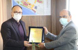 تبریک انتصاب سرپرست منطقه ویژه اقتصادی پارسیان توسط رئیس حوزه غرب بانک ملی هرمزگان