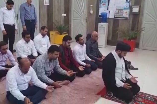 نماز جماعت ظهر و عصر اولین روز از ماه مبارک رمضان در منطقه ویژه اقتصادی پارسیان