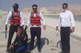 مانور بزرگ عملیات ضد تروریستی وخرابکارانه ، امداد و نجات و اطفای حریق در اسکله شماره ۵ بندر پارسیان