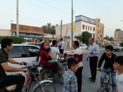 برپایی ایستگاه صلواتی بمناسبت عید غدیر خم در سطح شهر  به همت منطقه ویژه اقتصادی پارسیان