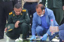 برگزاری مراسم غبارروبی قبور شهدا به مناسبت آغاز هفته گرامیداشت کار و کارگر در پارسیان