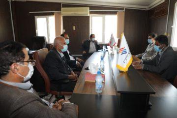 دیدار اعضاء شورای شهر و شهردار پارسیان با مدیرعامل منطقه ویژه اقتصادی پارسیان