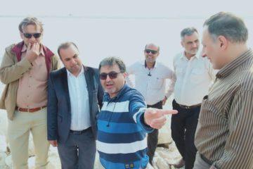 بازدید مدیرعامل از روند احداث بندر پارسیان